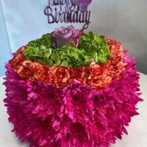 flower cake birthday flowers