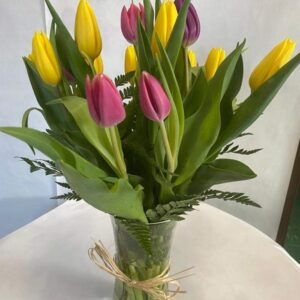 tulips fresh flowers vase